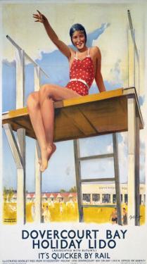 Dovercourt Bay, Holiday Lido, LNER, c.1941 by Daphne Padden