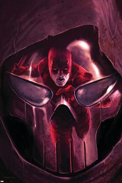 Daredevil No.105 Cover: Daredevil and Mr. Fear