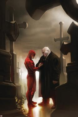 Daredevil No.117 Cover: Daredevil and Kingpin