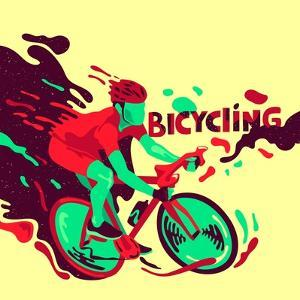 Bicycling. Healthy Lifestyle. Sports Poster by Daria_I