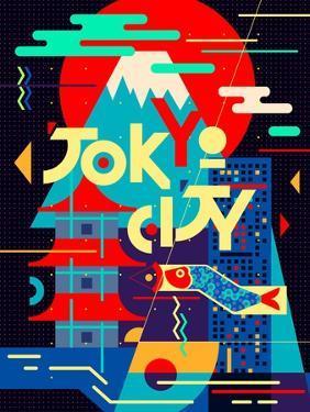Flat Poster. Tokyo City by Daria_I