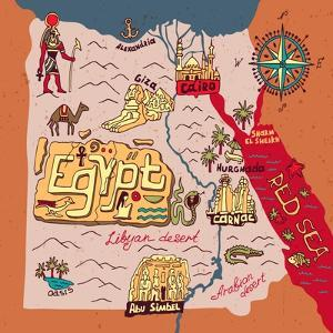 Illustrated Map of Egypt by Daria_I