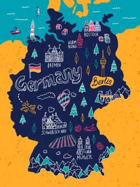Illustrated Map of Germany by Daria_I
