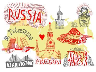 Illustrated Map of Russia by Daria_I