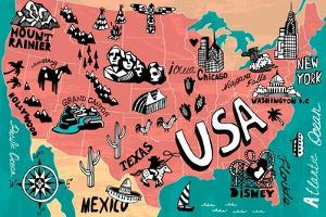 Illustrated Map of USA by Daria_I