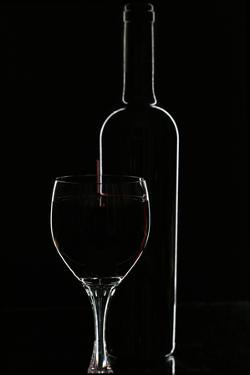 Red Wine and Glasse over Black by Darja Vorontsova