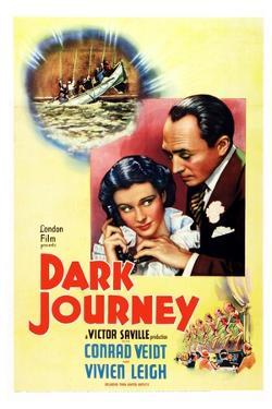 Dark Journey, Vivien Leigh, Conrad Veidt, 1937