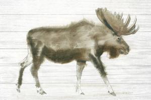 Dark Moose on Wood Crop