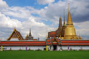 A Cloud-Filled Sky over the Thai Grand Palace by Darlyne A. Murawski