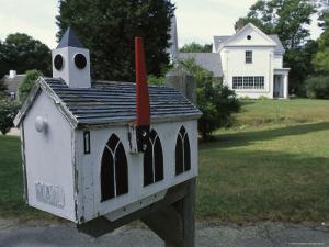 A Mailbox Designed to Look Like a Church by Darlyne A. Murawski
