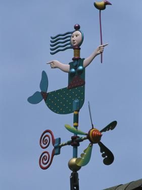 Colorful Mermaid Shaped Weather Vane, Brewster, Cape Cod, Massachusetts by Darlyne A. Murawski
