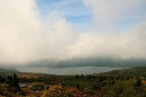 Heavy Clouds over a View of a Lake and Forest from Cadillac Mountain by Darlyne A. Murawski