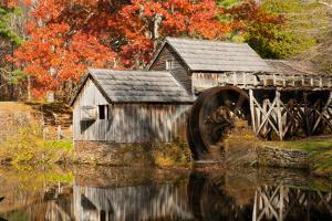 Mabry Mill and Pond in Autumn by Darlyne A. Murawski