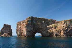 Perce Rock off the Gaspe Peninsula. by Darlyne A. Murawski