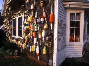 Small Seafood Restaurant Decorated with Colorful Fishing Floats, Rock Harbor, Massachusetts by Darlyne A. Murawski