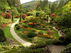 Sunken Garden at Butchart Gardnes, Victoria, British Columbia by Darlyne A. Murawski