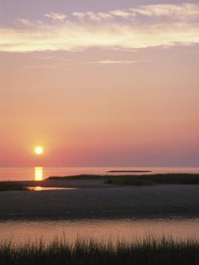 Sunset Reflecting in the Atlantic Ocean, Brewster, Cape Cod, Massachusetts by Darlyne A. Murawski