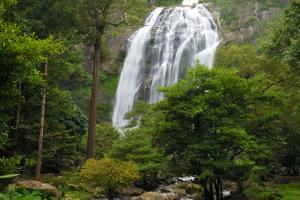 The 300-Foot-Tall Klong Lan Waterfall and Surrounding Forest by Darlyne A. Murawski
