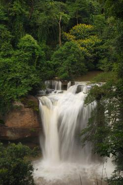 The Haew Suwat Waterfall in a Scenic Wooded Setting by Darlyne A. Murawski
