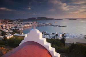 Chapel Overlooking the Harbor on Greek Island of Mykonos by Darrell Gulin