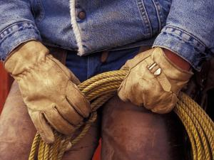 Cowboy and Rope, Ponderosa Ranch, Seneca, Oregon, USA by Darrell Gulin