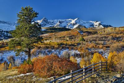 Dallas Mountain and San Juan Mountain Range in autumn, Colorado by Darrell Gulin