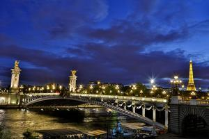 Evening light Pont Alexandre III bridge, Paris, France by Darrell Gulin