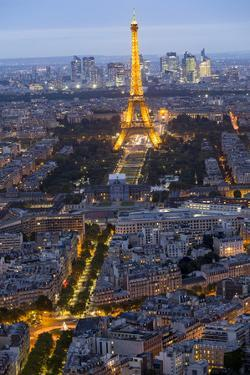 Evening light with Paris as seen from above by Darrell Gulin