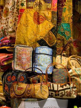 Fabrics for Sale, Vendor in Spice Market, Istanbul, Turkey by Darrell Gulin
