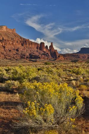 Fisher Towers, Utah in evening light by Darrell Gulin