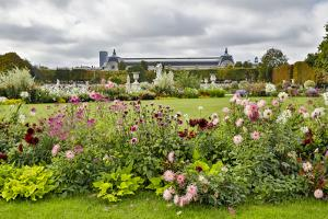 Garden near the Louvre Paris, France. by Darrell Gulin