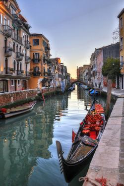 Gondolas Along the Canals of Venice, Italy by Darrell Gulin