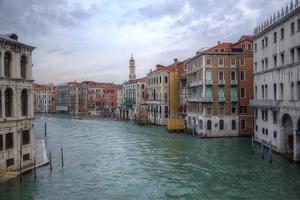 Grand Canal and Bell Tower from Rialto Bridge, Venice, Italy by Darrell Gulin