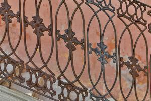 Guanajuato in Central Mexico. Buildings with fancy ironwork by Darrell Gulin