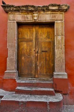 Guanajuato in Central Mexico. Colorful doorways by Darrell Gulin