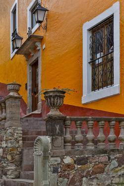Guanajuato in Central Mexico. Old colonial architecture and stairways by Darrell Gulin
