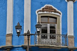 Guanajuato in Central Mexico. Old colonial building with balcony by Darrell Gulin