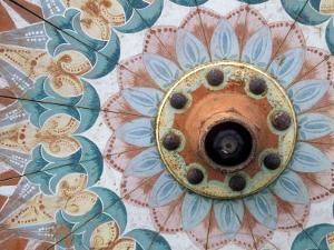 Hand-Painted Oxcart Wheel, Costa Rica by Darrell Gulin