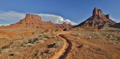 Horse trail leading into Professor Valley, Utah by Darrell Gulin