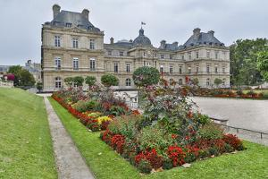 Late summer Luxembourg Gardens and Palace, Paris by Darrell Gulin