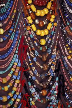 Morroco, Marrakech Necklaces for sale in souq by Darrell Gulin