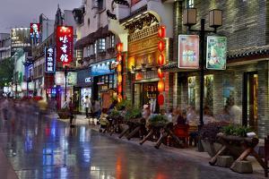 Neon Market Street, Guilin, China by Darrell Gulin