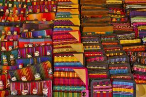 San Miguel De Allende, Mexico. Colorful cloth on display for sale by Darrell Gulin