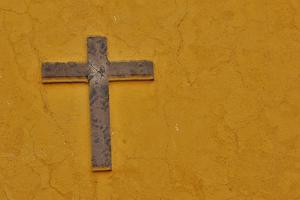 San Miguel De Allende, Mexico. Cross mounted on buildings wall by Darrell Gulin