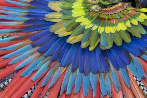 San Miguel De Allende, Mexico. Native feather headdress by Darrell Gulin