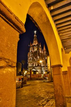 San Miguel De Allende, Mexico. Ornate Parroquia de San Miguel Archangel evening light by Darrell Gulin