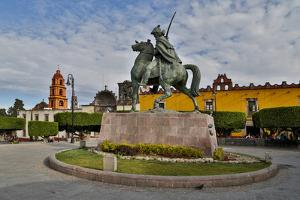 San Miguel De Allende, Mexico. Plaza Civica and Statue of General Allende by Darrell Gulin