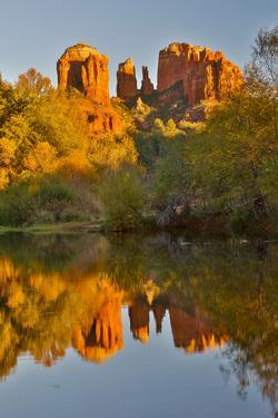 Sedona and the Red Rock Crossing with river reflecting the red rock by Darrell Gulin