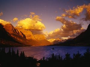 Sunrise over St. Mary Lake by Darrell Gulin
