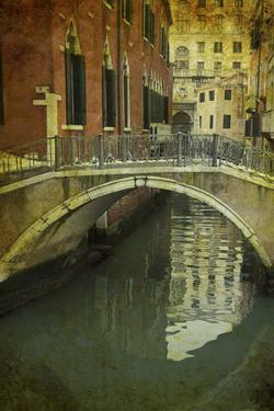 Textures on Canals of Venice Along with Bridges and Old Homes by Darrell Gulin